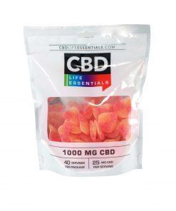 CBD Peach Tart gummies venus and flora bliss shop chicago