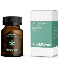 Wildflower Curcumin CBD capsules hemp ginseng venus and flora bliss shop chicago